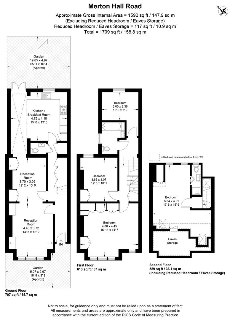 Floorplan for Merton Hall Road, Wimbledon